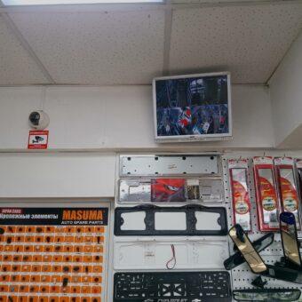 Установка системы видеонаблюдение в Авто магазине